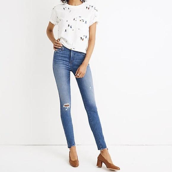"Madewell Denim - Madewell 10"" High Rise Drop Step Hem Skinny Jeans"